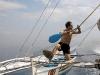 epv 0106.jpg Navigation vers Apo Island sur le Barracuda Queen (croisière aux Visayas, Philippines)